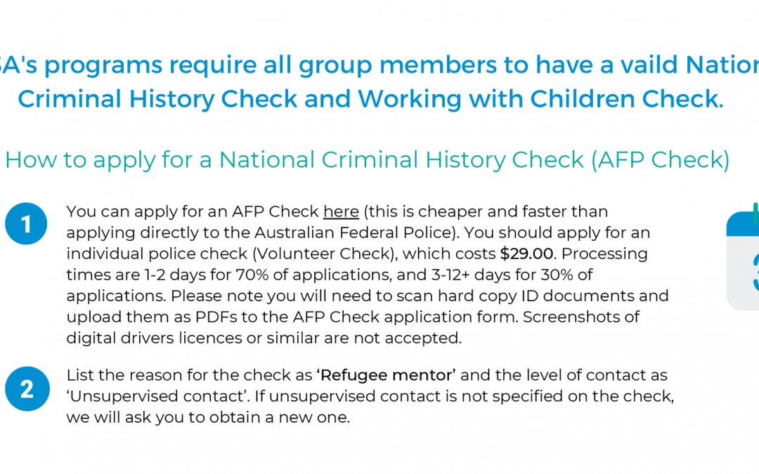 How to apply for National Police and Working With Children Checks